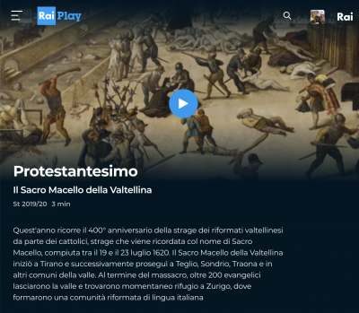 400 anni fa la strage dei riformati valtellinesi da parte dei cattolici